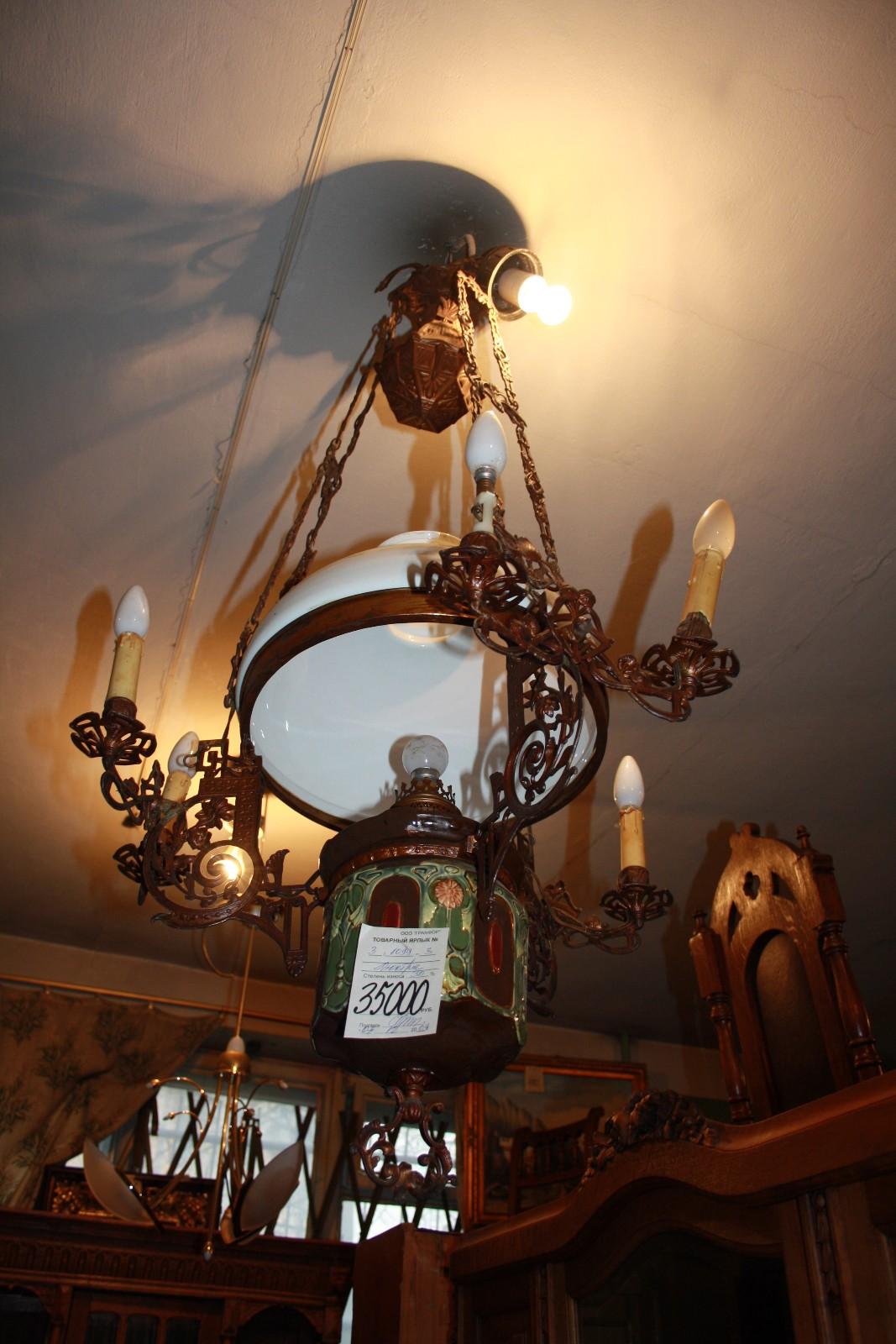Купить старинные бра, лампы и люстры в Санкт